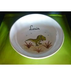 Assiette à bouillie dinosaure