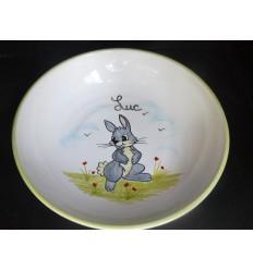 Assiette à bouillie lapin