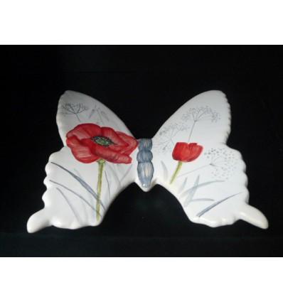 Papillon coquelicot