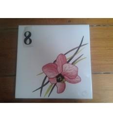Plaque orchidée