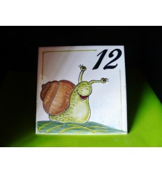 Plaque escargot