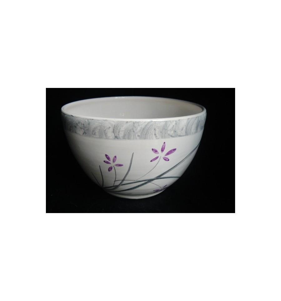 Bol libellule violet et gris poterie saint sauveur d 39 aunis - Violet et gris ...