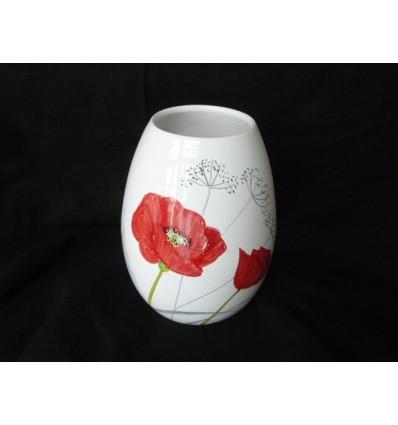 Vase oeuf coquelicot (petit modèle)