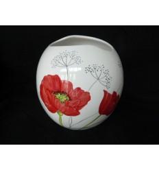 Vase boule orchidée