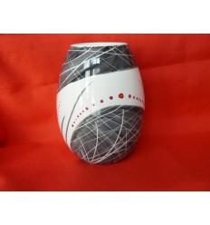 Vase oeuf noir et rouge petit modèle