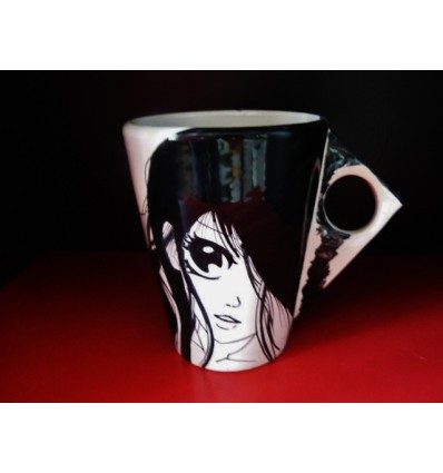 Mug graphique manga elle