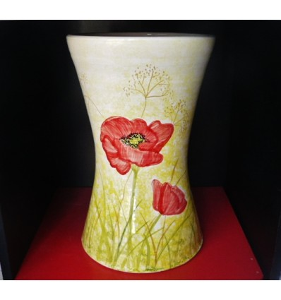 Vase tam-tam coquelicot
