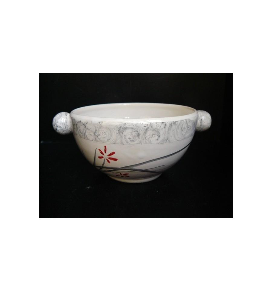Bol boules jardin zen gris et rouge poterie saint for Jardin gris et rouge