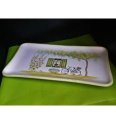 Plat à cake île de Ré vert
