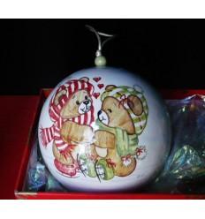 Boule de Noël oursons amoureux
